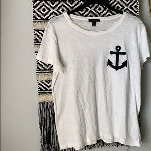 JCrew anchor slub tee
